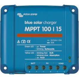 Regulador solar MPPT de 12-24V y 15A Victron BlueSolar MPPT 100/15
