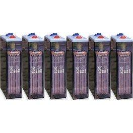 Batería estacionaria Exide Classic 2500Ah, C120, 6 vasos x 2V