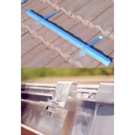 Estructura metálica Saclima L-21 para 6 paneles solares térmicos en cubierta inclinada.