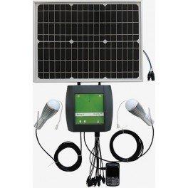 MicroKit Solar aislado para bombilla y carga de móvil, PinLite