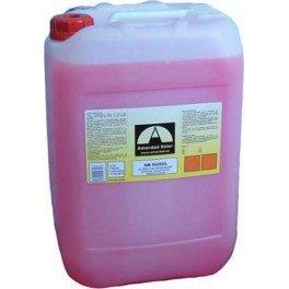 Garrafa de 5 litros de líquido calorportador con anticongelante y aditivos anticorrosivos