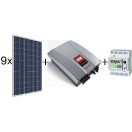 Kit autoconsumo de 2385Wp Amerisolar sin inyección a red, con inversor Ingeteam 2,5TL