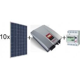 Kit autoconsumo de 2400Wp SCL sin inyección a red, con inversor Ingeteam 2,5TL