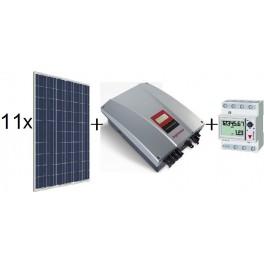 Kit autoconsumo de 2640Wp SCL sin inyección a red, con inversor Ingeteam 2,5TL