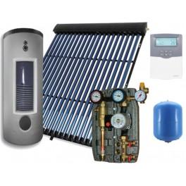 Equipo solar de circulación forzada de 500 litros y 60 tubos de vacío, modelo 2M-Sierra