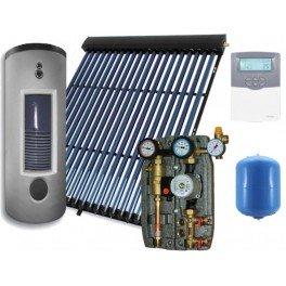 Equipo solar de circulación forzada de 150 litros y 20 tubos de vacío, modelo 2M-Sierra