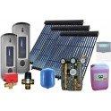 Equipo solar de circulación forzada de 300L para ACS y 500L para calefacción, con 80 tubos de vacío. 2M-Sierra Kit Calefacción.