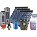 Equipo solar de circulación forzada de 300L para ACS y 300L para calefacción, con 80 tubos de vacío. 2M-Sierra Kit Calefacción.