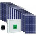 Kit solar autoconsumo 3.000W monofásico vertido 0 con paneles Eoplly + Conext RL 3000 E + Solar-Log 300 + Mupro