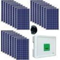 Kit solar autoconsumo 5.000W monofásico vertido 0 con paneles Eoplly + Conext RL 5000 E + Solar-Log 300 Meter + Mupro