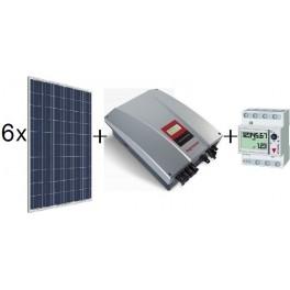 Kit solar autoconsumo de 1620W Amerisolar sin inyección a red, con inversor Ingeteam 2,5TL