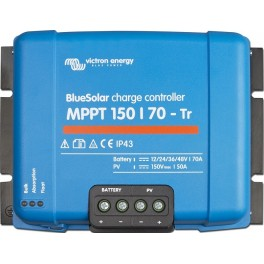 Regulador solar MPPT Victron BlueSolar MPPT 150/70-Tr de 70 A y 12-24-36-48V