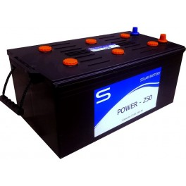 Batería monobloc 12Vcc 250Ah C100 modelo Power 250