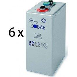 Baterias de GEL estacionarias BAE Secura GEL 6 PVV 900 de 968Ah C100, conjunto de 12V