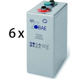 Baterias de GEL estacionarias BAE Secura GEL 8 PVV 1200 de 1280Ah C100, conjunto de 12V