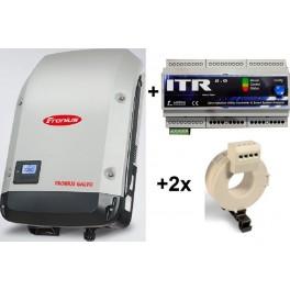Kit autoconsumo de hasta 3,1kW monofásico sin inyección a red con inversor Galvo y monitorización a través de internet
