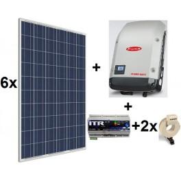 Kit autoconsumo de 1,5kW sin inyección a red con paneles Amerisolar, inversor Galvo y monitorización por internet