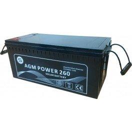 Batería monobloc AGM 12Vcc 260Ah C100 modelo AGM Power 260