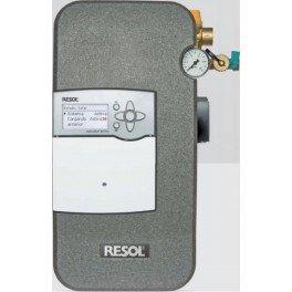 Estación solar de bombeo de alta eficiencia RESOL Flow Sol B HE con termostato diferencial BX Plus