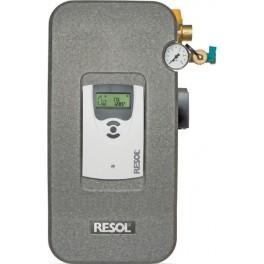 Estación solar de bombeo de alta eficiencia RESOL Flow Sol B HE con termostato diferencial CS Plus