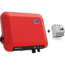 Kit autoconsumo de 2500W sin inyección a red y monitorización, con SMA Sunny Boy 2.5 y Energy Meter