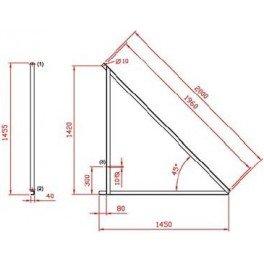 Estructura metálica Saclima E-21 para paneles solares térmicos en superficie horizontal