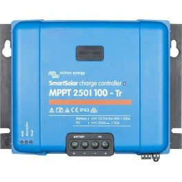 Regulador solar MPPT Victron SmartSolar MPPT 250/100-Tr de 100A y 250V de campo solar fotovoltaico