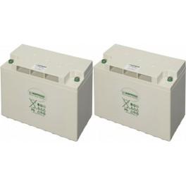 Batería AGM 12V y 190Ah C100 Hoppecke SunPower VR-M de 7000 ciclos (conjunto de 2 vasos de 6V)