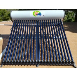 Termosifón 400 litros/día con serpentín y 30 tubos de vacío Am-Termosol Ultra