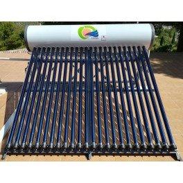 Termosifón 300 litros/día con serpentín y 24 tubos de vacío 2M-Termosol Ultra