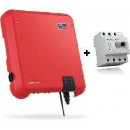 Kit autoconsumo de hasta 3000W sin inyección a red y monitorización, con SMA Sunny Boy 3.0 y Energy Meter