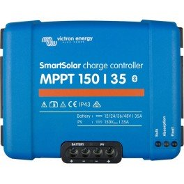 Regulador solar MPPT de 35A Victron SmartSolar MPPT 150/35 y 12-24-36-48V