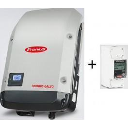 Kit autoconsumo de hasta 3kW monofásico sin inyección a red, con inversor Galvo y Smart Meter, con monitorización