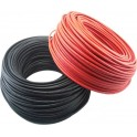 Bobina de 100m de cable solar unipolar de 6 mm2 de color NEGRO