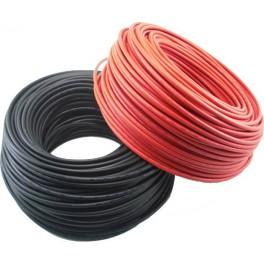 Bobina de 100m de cable solar unipolar de 6 mm2 de color NEGRO
