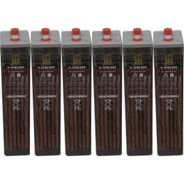 Batería estacionaria 949Ah C100, 6 vasos x 2V SUNLIGHT 6 OPzS 600