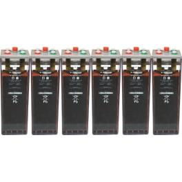 Batería estacionaria 1256Ah C100, 6 vasos x 2V SUNLIGHT 8 OPzS 800
