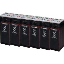 Batería estacionaria 1800Ah C100, 6 vasos x 2V HOPPECKE 12 OPZS 1200