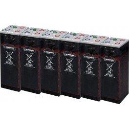 Batería estacionaria 2232Ah C100, 6 vasos x 2V HOPPECKE 12 OPZS 1500