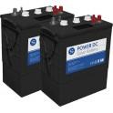 Batería solar de 12V y 315Ah C100. Conjunto de 2 unidades de Batería solar SCL de 6V y 315Ah C100 de ciclo profundo Power DC-315