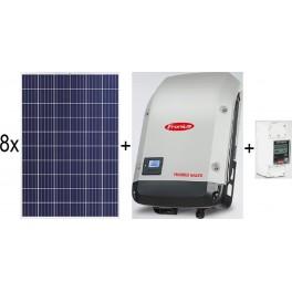 Kit autoconsumo de 2kW sin inyección a red con paneles Jinko, inversor Galvo y Smart Meter