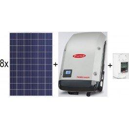 Kit autoconsumo de 2,2kWp inyección a red con paneles Jinko, inversor Galvo y Smart Meter