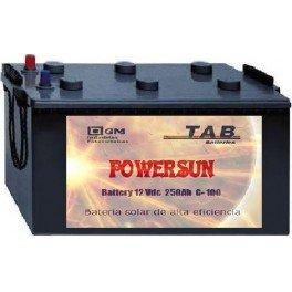 Batería monobloc de ácido POWERSUN-TAB 12V 250Ah C100