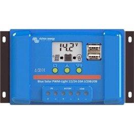 Controlador de carga Victron BlueSolar PWM-LCD y USB de 20A y 12/24v