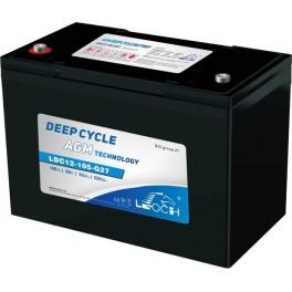Batería AGM con Carbono de 12V y 115Ah C100 LEOCH LDC12-105-G27