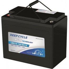 Batería AGM con Carbono de 12V y 166Ah C100 LEOCH LDC12-150-GC12