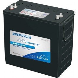 Batería AGM con Carbono de 12V y 245Ah C100 LEOCH LDC12-220