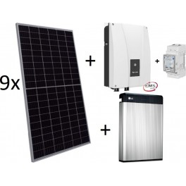 Kit autoconsumo con batería de litio, Ingecon Sun Storage 1Play 3TL M y paneles solares
