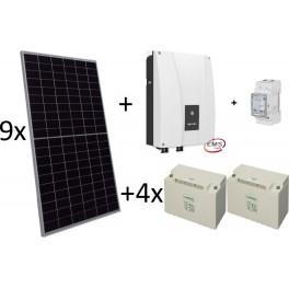 Kit autoconsumo con baterías de plomo, Ingecon Sun Storage 1Play 3TL M y paneles solares