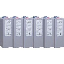 Bateria estacionaria de GEL 6 vasos de 2V Sunlight 6 OPzV 600 de 937Ah C120